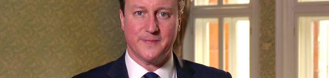 David Cameron, Premierminister des Vereinigten Königreichs, spricht über Ostern.