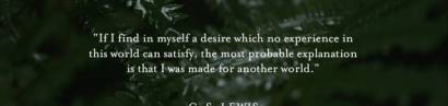 C.S. Lewis: All men are worshipers. Lebenssinn- und Fülle finden wir nicht in dem was geschaffen wurde sondern nur in dem der alles geschaffen hat.