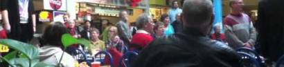 Christmas Food Court Flash Mob, Hallelujah Chorus